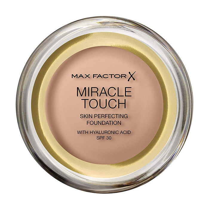 Max Factor Miracle Touch Skin Perfecting Foundation SPF30-45 Warm Almond - Image 1