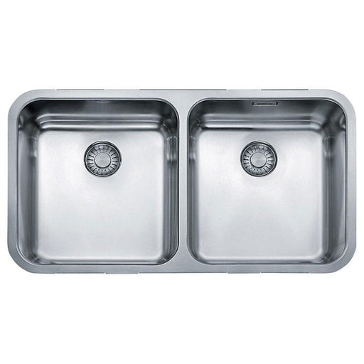 Franke Largo LAX 120 36-36 Undermounted 2 Bowl Kitchen Sink, Stainless Steel - Image 1