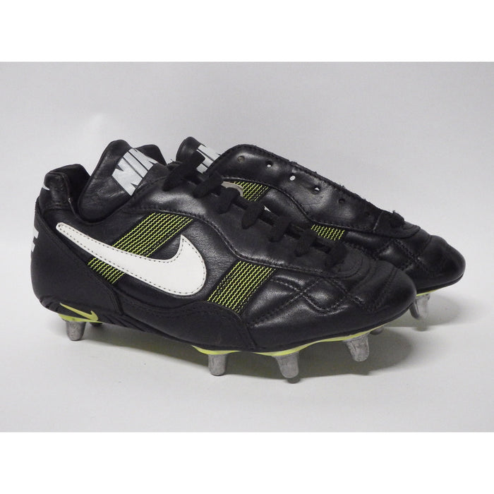 Nike World Cup Football Boots Low Soft Toe UK 6 Black White Neon Yellow - Image 1