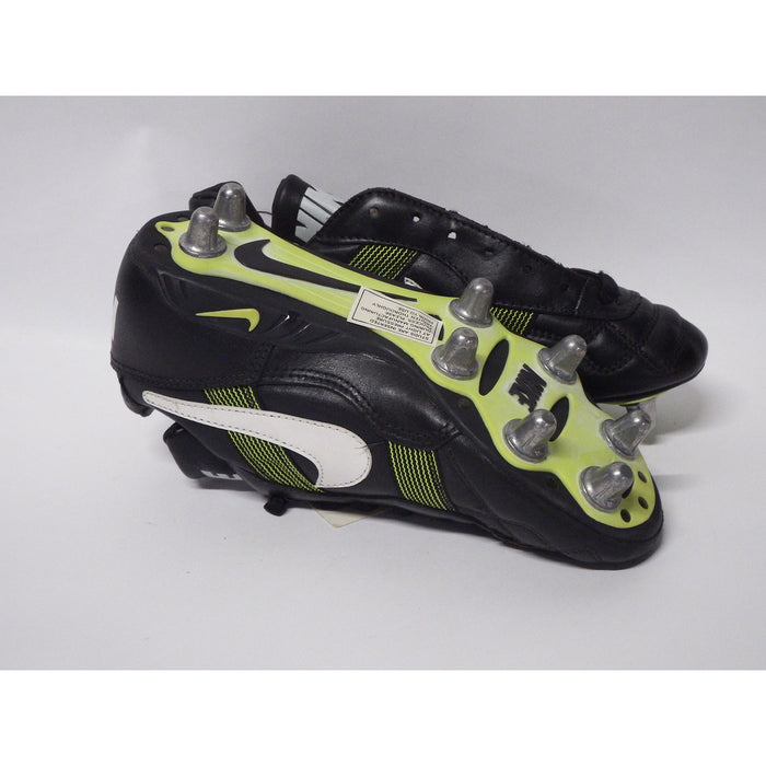 Nike World Cup Football Boots Low Soft Toe UK 6 Black White Neon Yellow - Image 3