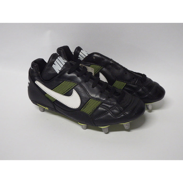 Nike World Cup Football Boots Low Soft Toe UK 6 Black White Neon Yellow - Image 4