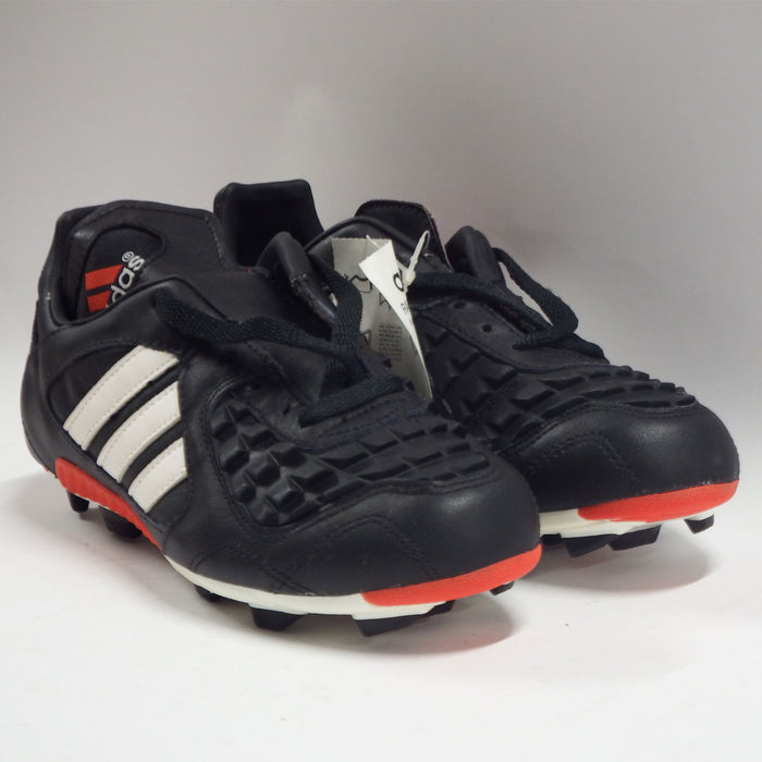 Adidas Predator Touch Football Boots Moulded Studs 1996 Black White Red Size 5 - Image 1