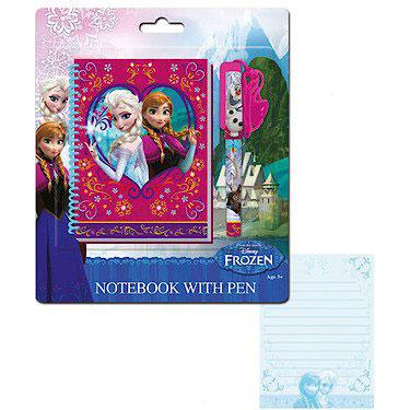 Disney Frozen Notebook and Necklace Pen - Image 1