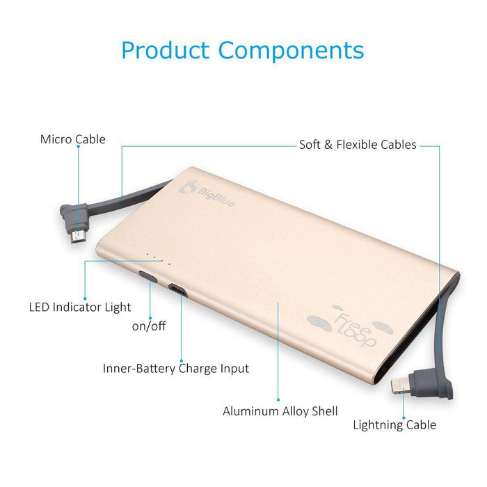 BigBlue Mfi Certified 5000 mAh Power Bank - Image 3