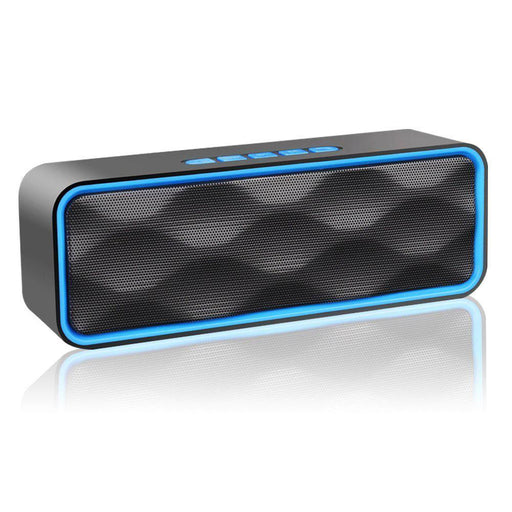 ZoeeTree S1 Wireless Bluetooth Speaker black blue Outdoor Stereo Speaker with HD Audio and Enhanced Bass - Image 1