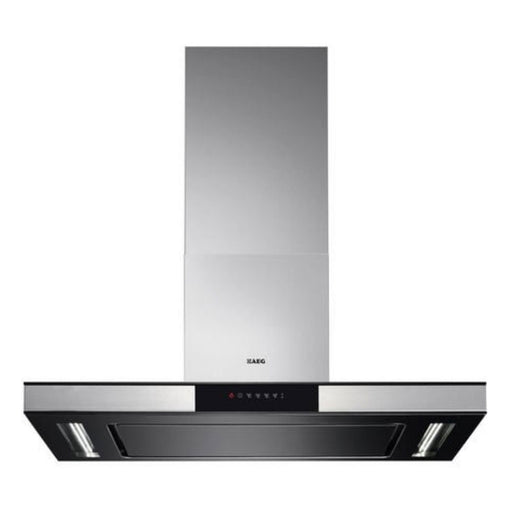 Aeg X99484Md10 Box Design 90Cm Chimney Cooker Hood With Perimeter Aspiration Stainless Steel - Image 1