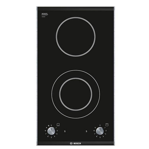 Bosch Logixx Pkf375V14E 30Cm Ceramic Domino Hob In Black Glass - Image 1