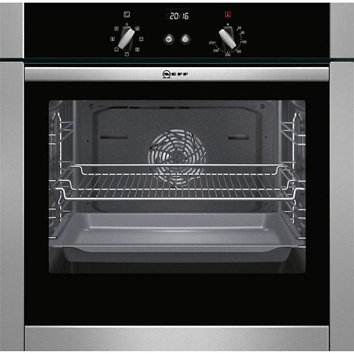 Neff B44M42N5GB Slide and Hide Built-In Single Oven, Stainless Steel - Image 1