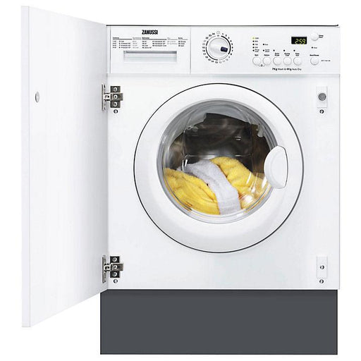 Zanussi ZWT71201WA Integrated Washer Dryer, 7kg Wash/4kg Dry Load - Image 1