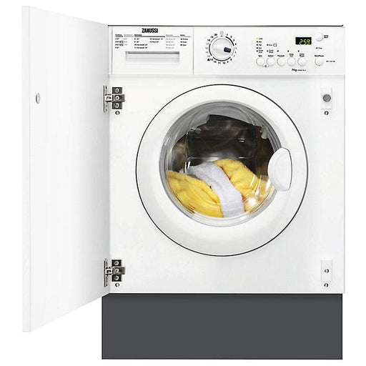 Zanussi ZWI71201WA Integrated Washing Machine, 7kg Load, A++ Energy Rating, 1200rpm Spin, White - Image 1