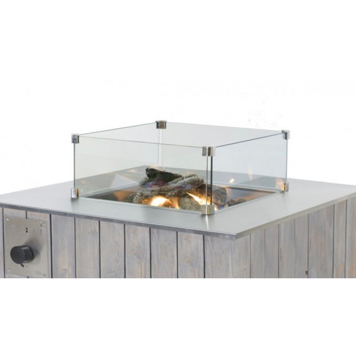 Cosi Glass 4 Panel Glass Fireplace Screei - Image 1