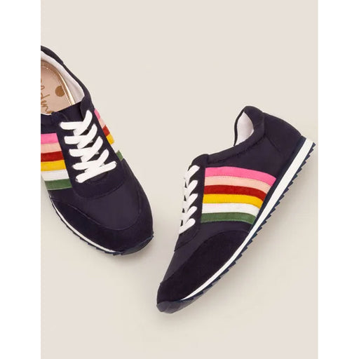 Boden Striped Trainers Multicoloured EU 38 - Image 1