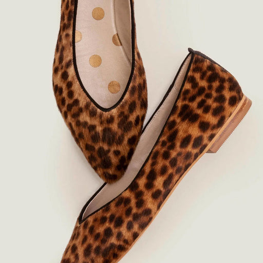 Julia Flat Shoes Tan Pointed Leopard EU 40.5 - Image 1