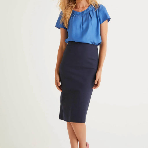 Boden Kensington Pencil Skirt Navy UK 12 R - Image 1