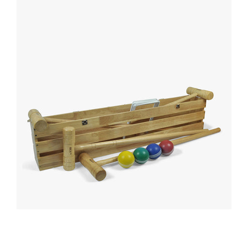 Bex Croquet Pro Game 4 Mallet in a Wooden Box Party Games - Image 1