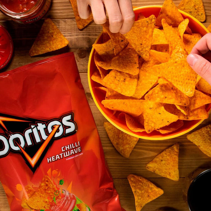 96 Bags of Doritos Tortilla Chips Chilli Heatwave in Pack of 6 x 30g - Image 2