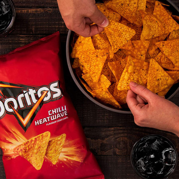 96 Bags of Doritos Tortilla Chips Chilli Heatwave in Pack of 6 x 30g - Image 3