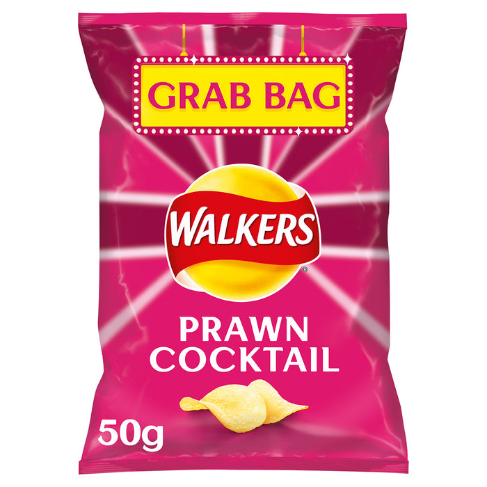 32 x Large 50g Grab Bags of Walkers Crisps Prawn Cocktail Sharing Pack - Image 2