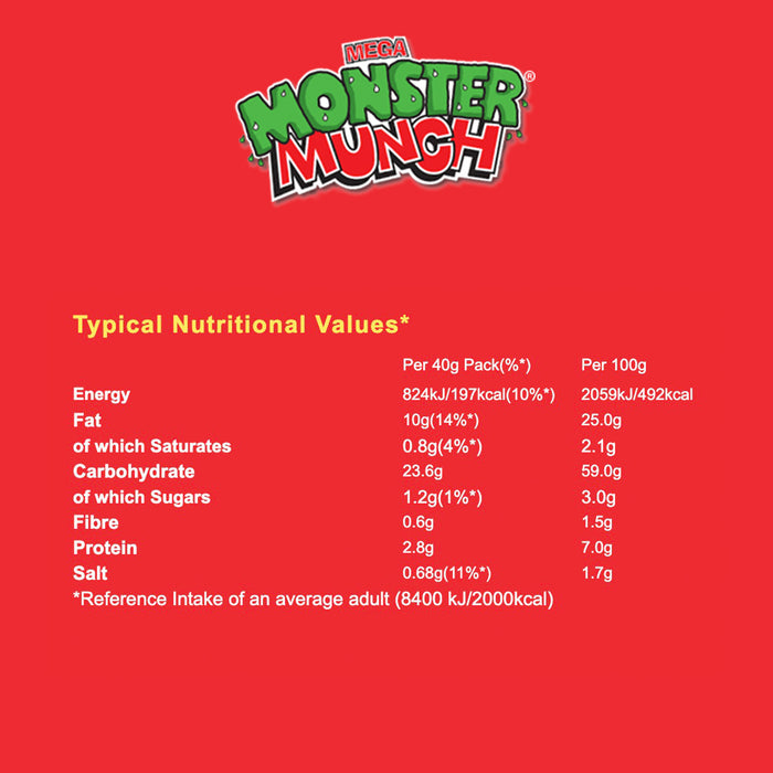 30 x Walkers Monster Munch Flamin' Hot Snacks 40g - Image 3