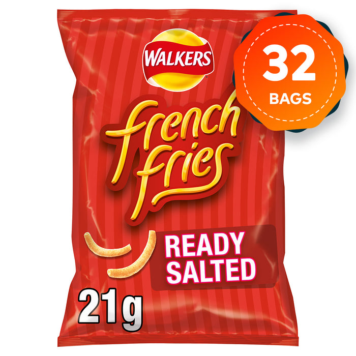 32 Bags of Walkers French Fries Ready Salted Snacks 21g - Image 1