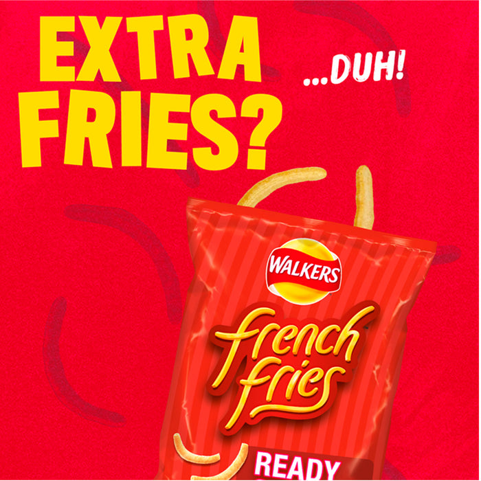 32 Bags of Walkers French Fries Ready Salted Snacks 21g - Image 2