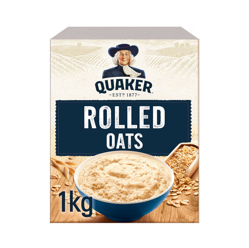 10 x Quaker Porridge Box Rolled Oats Box of 1kg - Image 1