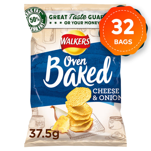32 Bags of Walkers Baked Cheese & Onion Snack 37.5g - Image 1