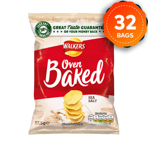 32 x Walkers Crisps Baked Ready Salted 37.5g - Image 1