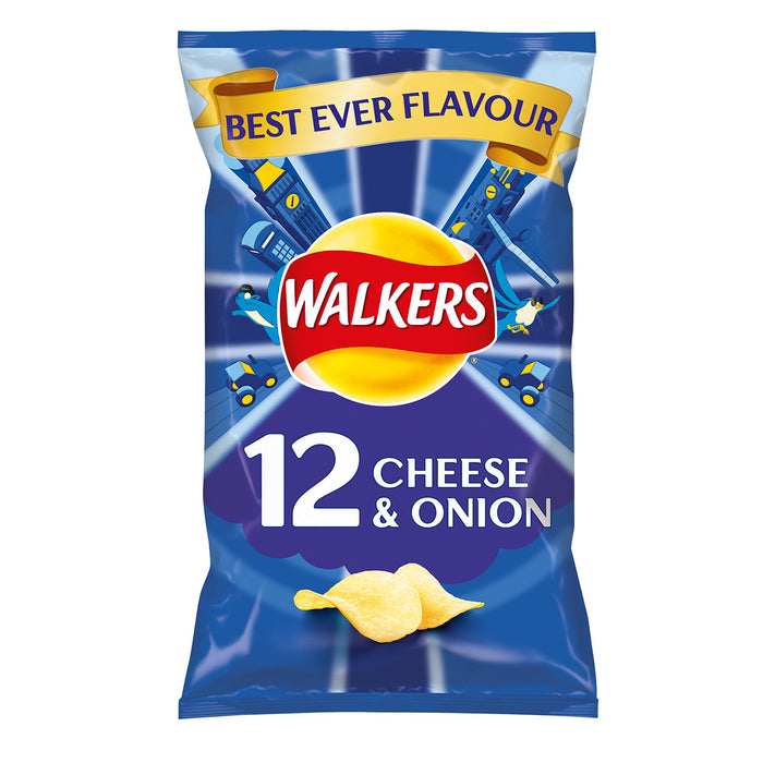 180 Bags of Walkers Crisps Cheese and Onion In Pack 12 x 25g - Image 2