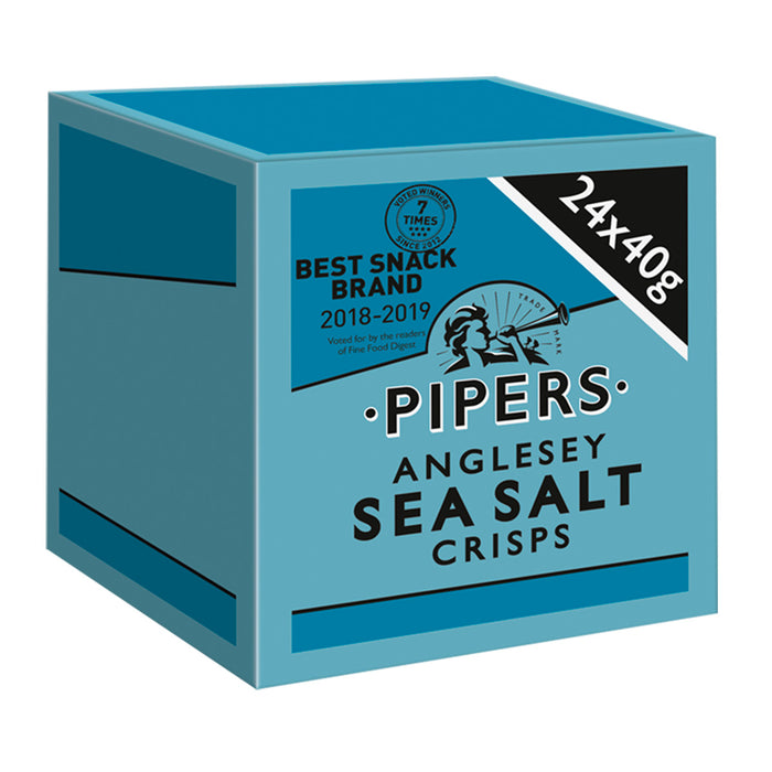 24 x Pipers Crisps Anglesey Sea Salt 40g - Image 3