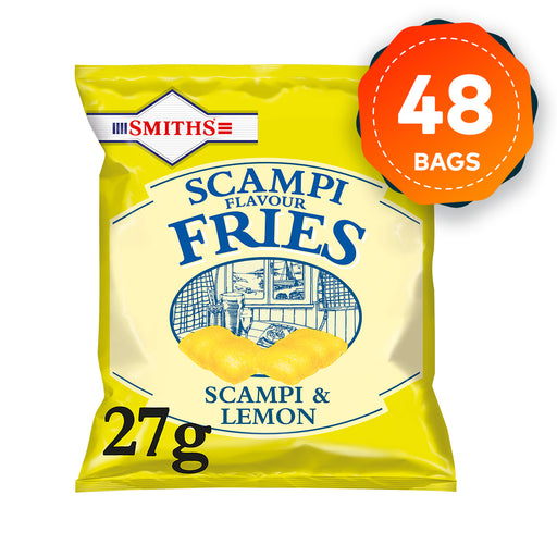 48 Bags of Smiths Savoury Snacks Scampi and Lemon Fries 27g - Image 1