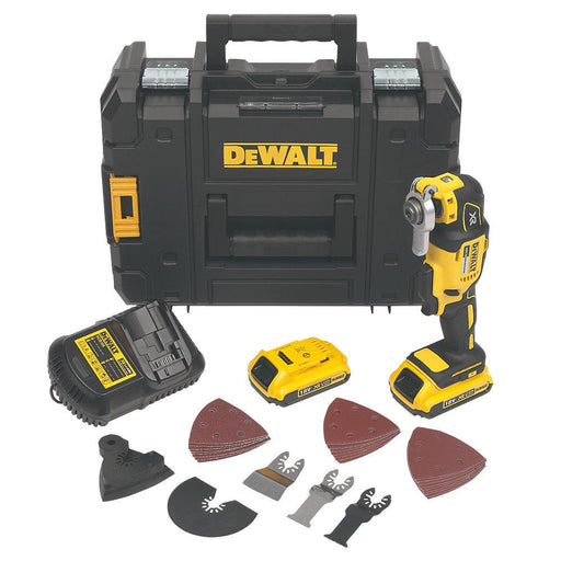 DeWalt DCS355D2-GB 18V 2 x 2.0Ah Li-Ion XR Cordless Multi-Tool with Accessories - Image 1