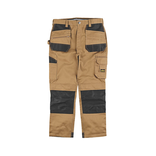 "Site Jackal Work Trousers Stone / Black 30"" W 32"" L - Image 1"