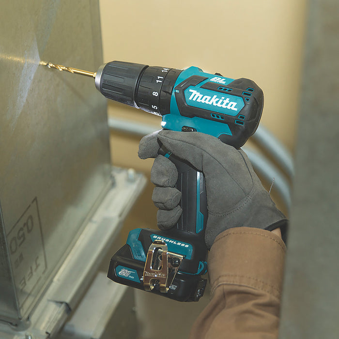 Makita HP332DZ 10.8V Li-ion CTX Brushless Cordless Combi Hammer Drill Body Only - Image 2