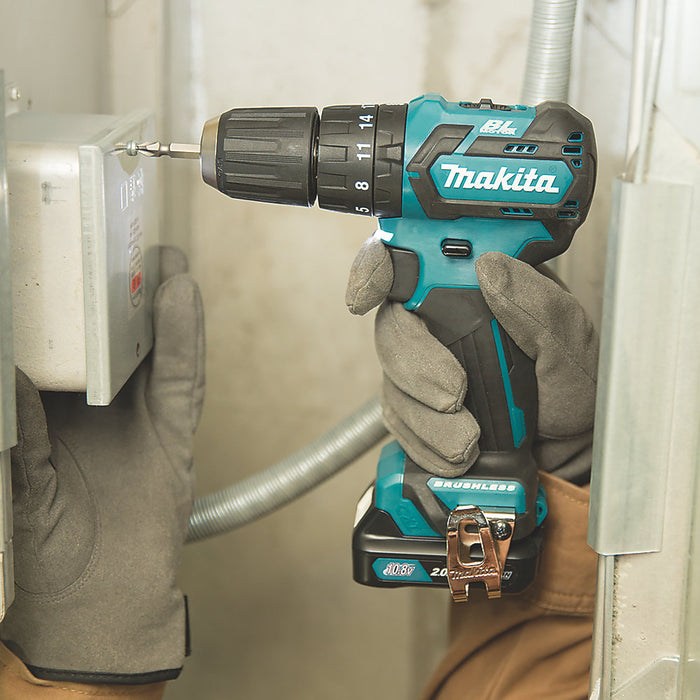 Makita HP332DZ 10.8V Li-ion CTX Brushless Cordless Combi Hammer Drill Body Only - Image 3