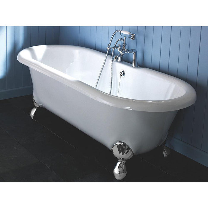 Swirl Edwardian Deck-Mounted Bath/Shower Mixer Tap - Image 3