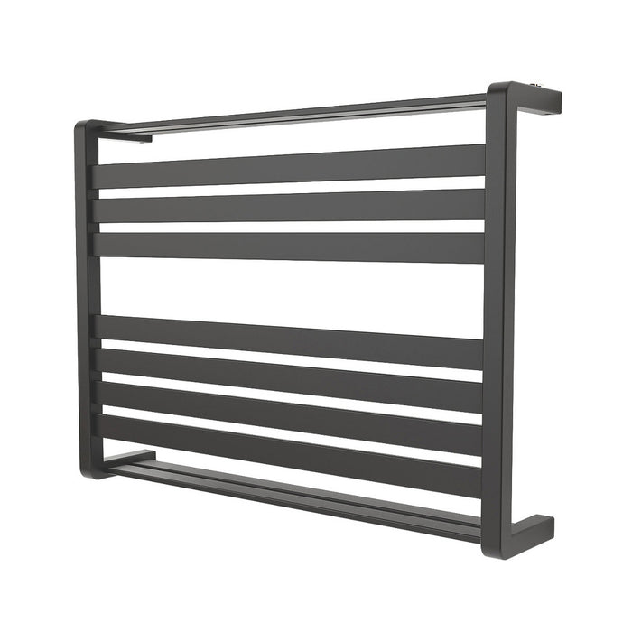 Loreto Towel Warmer Horizontal 600x800mm 535W Matt Anthracite Finish - Image 1