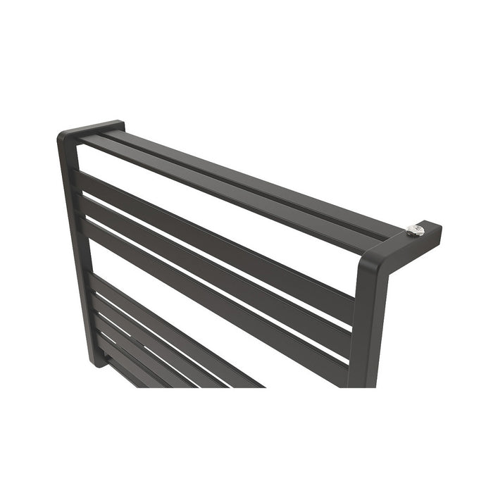 Loreto Towel Warmer Horizontal 600x800mm 535W Matt Anthracite Finish - Image 3