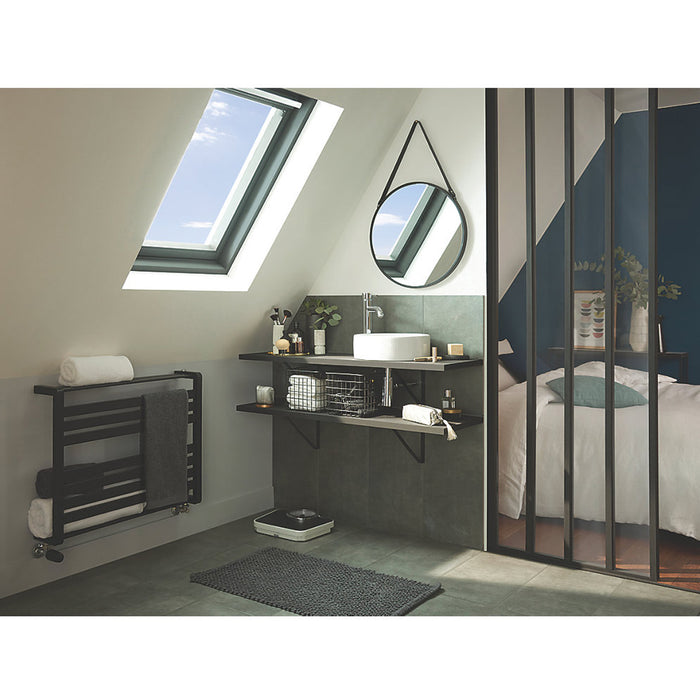 Loreto Towel Warmer Horizontal 600x800mm 535W Matt Anthracite Finish - Image 5