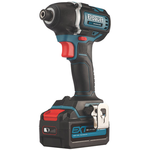 Erbauer Cordless Impact Driver EID18-Li 18V 1 x 4.0Ah Li-Ion Battery & Charger - Image 1