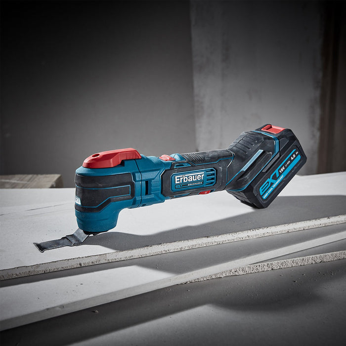 Erbauer Cordless Multi Tool EMT18-Li-QC 18V 1X4Ah Li-Ion with Battery & Charger - Image 2