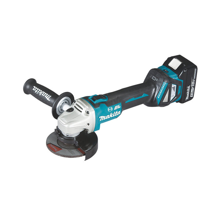 Makita Cordless Angle Grinder DGA463STJ Brushless 2 x 5.0Ah and Case - Image 2