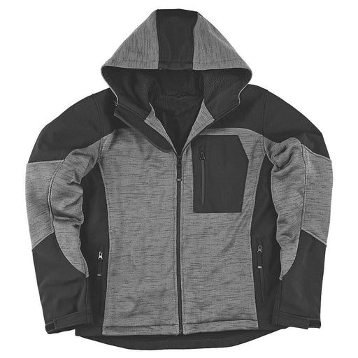 "Site Rowan Fleece-Lined Winter Hoodie Black / Grey Large 51"" Chest - Image 1"