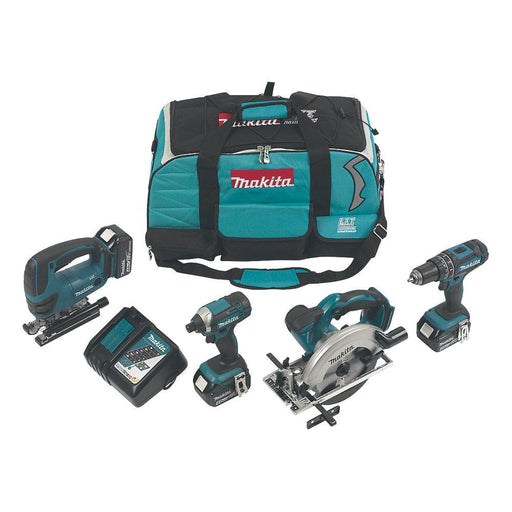 Makita DLX4088MX1 Cordless 4-Piece Power Tool Kit Set: Drill Saw Jigsaw Driver - Image 1