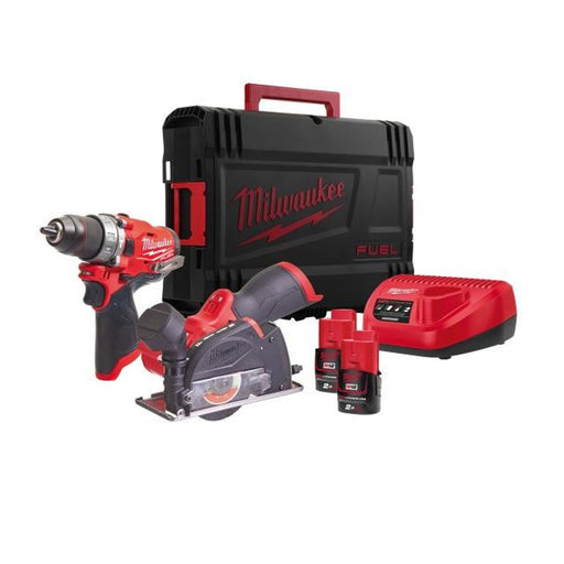 Milwaukee Percussion Drill & Cut-off Saw M12FPP2F-202X M12 2 x 2Ah - Image 1