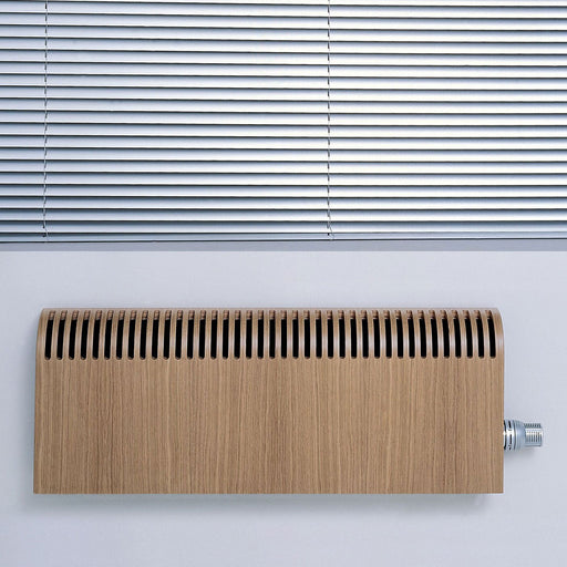 Jaga Knockonwood Horizontal Wooden Cased Radiator Oak Veneer (H)550mm (W)1000mm - Image 1