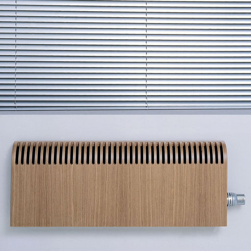 Jaga Knockonwood Horizontal Wooden Cased Radiator Oak Veneer (H)300mm (W)1400mm - Image 1
