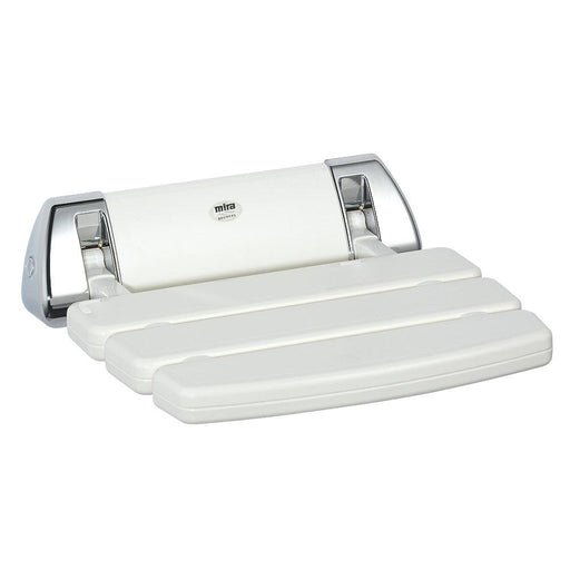 Mira Shower Seat White Chrome 382 x 355mm Max Load 95.5kg - Image 1