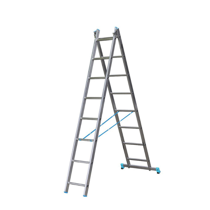 Mac Allister 2-Section 2-Way Aluminium Combination Ladder  3.35m - Image 1
