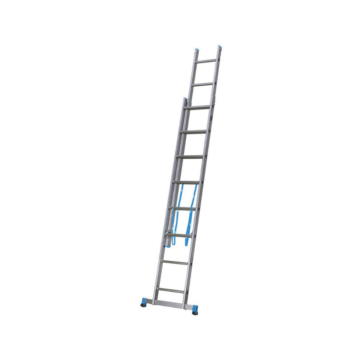 Mac Allister 2-Section 2-Way Aluminium Combination Ladder  3.35m - Image 2